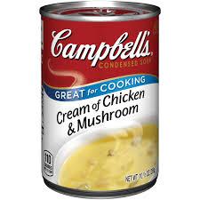 campbell u0027s condensed cream of chicken u0026 mushroom soup 10 5 oz