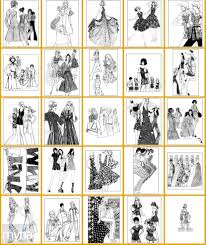 vintage women coloring book 10 groovy fashion of the u002770s myria