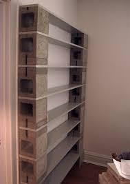 cinder block bookcase bookshelves pinterest shelves