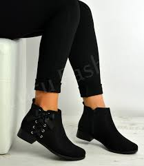 ankle boots uk ebay womens ankle boots bow zip flat low heels shoes size uk