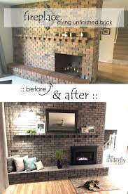 Before And After Living Rooms by Best 25 Brick Fireplace Makeover Ideas On Pinterest Painting