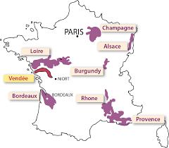 Wine Map Of France by