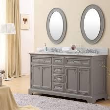 60 In Bathroom Vanity by Water Creation Derby 60 Inch Cashmere Grey Double Sink Bathroom