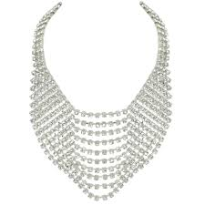 bib necklace images Panache clear crystal diamante bib necklace jpg