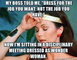 Boss Meme - boss advice gone wrong wonderwoman funny work humor lol dceu