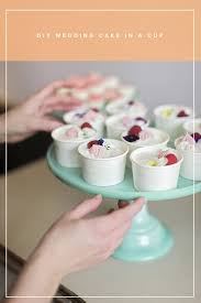 mini wedding cakes diy mini cakes to go in paper cups ruffled