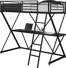 amazon com coaster loft bed full size work station kitchen u0026 dining