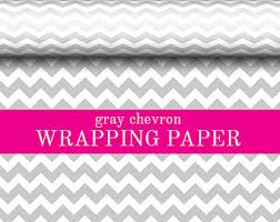 grey wrapping paper chevron wrapping paper etsy