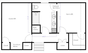 bathroom floor plans with dimensions re jack and jill bathroom