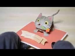 pop up birthday card kijitora cat brown tabby youtube