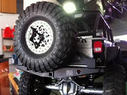 jeep rear bumper with tire carrier rc rock armor scx10 rear bumper with swingout spare tire carrier