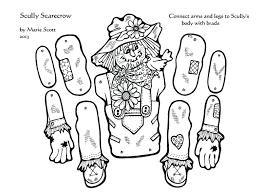 free scarecrow coloring pages for kindergarten perfect rustic