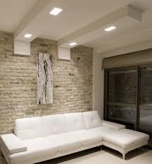 spot chambre à coucher plafonds faux plafond salon élégant canapé blanc spots led faux