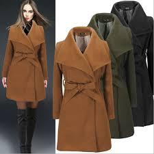 Warm Winter Coats For Women Winter Women Wool Top Coat Warm Waterfall Duffle Overcoat Slim