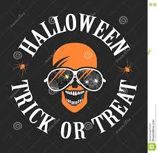 halloween skull background halloween skull with glasses logo stock vector image 72377818