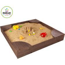 Sandboxes With Canopy And Cover by Kidkraft Backyard Sandbox Honey Walmart Com