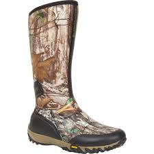 rocky silenthunter waterproof insulated camo rubber boot
