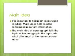 main idea and detail power point
