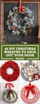 christmas reefs 40 diy christmas wreath ideas how to make a