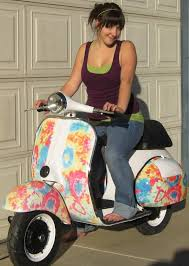 custom paint scooter flower power scooters and accessories for