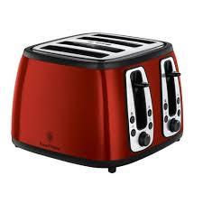 Best Four Slice Toaster Uk Russell Hobbs Heritage 4 Slice Toaster 19160 Metallic Red