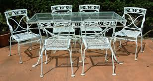 a salterini 7 pc wrought iron dining set mt vernon joan bogart
