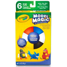 crayola model magic clay with 6 individual primary colors