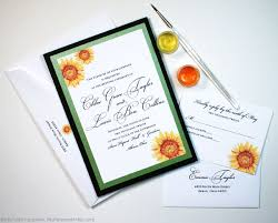 Sunflower Wedding Invitations Sunflower Wedding Invitations And Stationery Custom Save The