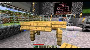 minecraft how to make a bed chair couch and table youtube