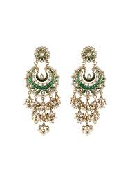 latkan earrings shillpa purii green latkan chaandbali earrings shop earrings