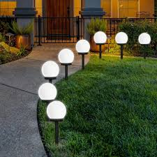 what is the best solar lighting for outside otdair solar lights outdoor 8 pack solar led globe powered garden light waterproof for yard patio walkway landscape in ground spike pathway cool