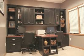 T Shaped Office Desk Furniture Diy Office With T Shaped Countertop And Built In Cabinets
