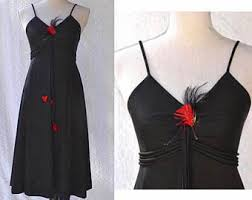 1970s black dress etsy
