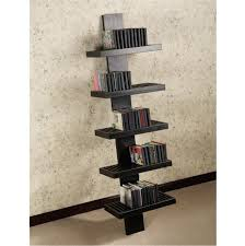 lovable unique shelving units design with unfinished wooden dvd