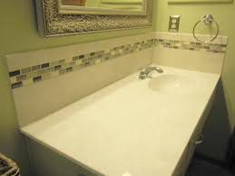 glass tile backsplash ideas bathroom bathroom vanity backsplash installation best bathroom decoration