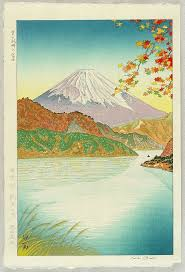 cuisine ang駘ique mt fuji and lake ashinoko 1950 koichi okada mount fuji