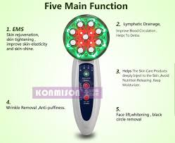 best handheld led light therapy device rf led photon therapy radio frequency microcurrent bio galvanic