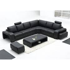 canapé grand angle grand canapé d angle en cuir pleine fleur fabio option lit convertib