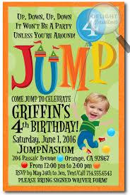 troline bounce house birthday invitations jump house birthday