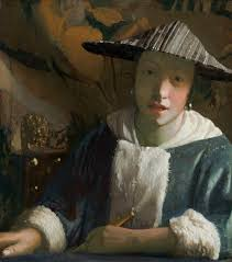 vermeer pearl necklace girl with a flute
