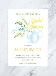 bridal brunch shower invitations floral tea party bridal shower invitation tea pot bridal shower