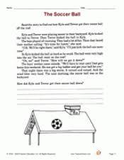 the soccer ball reading comprehension teachervision