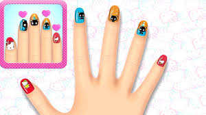 hello kitty nail salon kids games manicure polish colors cute