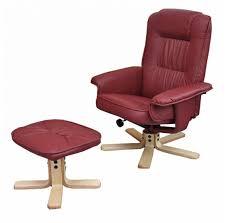 chaise bordeaux fauteuils relax chaise inclinable avec repose pieds m56 similicuir