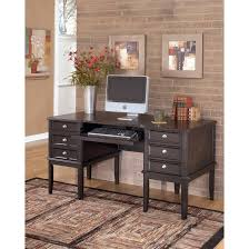 bedroom carlyle home office desk in almost black h371 27 ashley