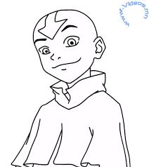 draw aang avatar airbender lineart avatar