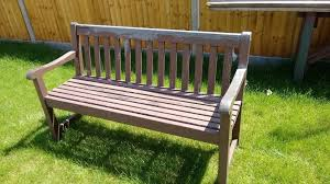 Hardwood Garden Benches Two Hardwood Garden Benches For Sale Singly Or As A Pair In