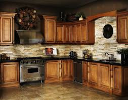 kitchen backsplash tile with dark cabinets chrome kitchen faucet