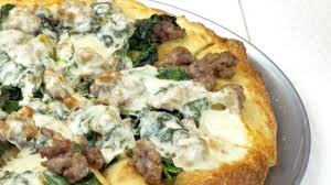 halloween pizza background sausage spinach and provolone pizza recipe real simple