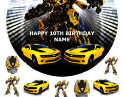 transformers cake toppers edible cake topper transformer etsy nz